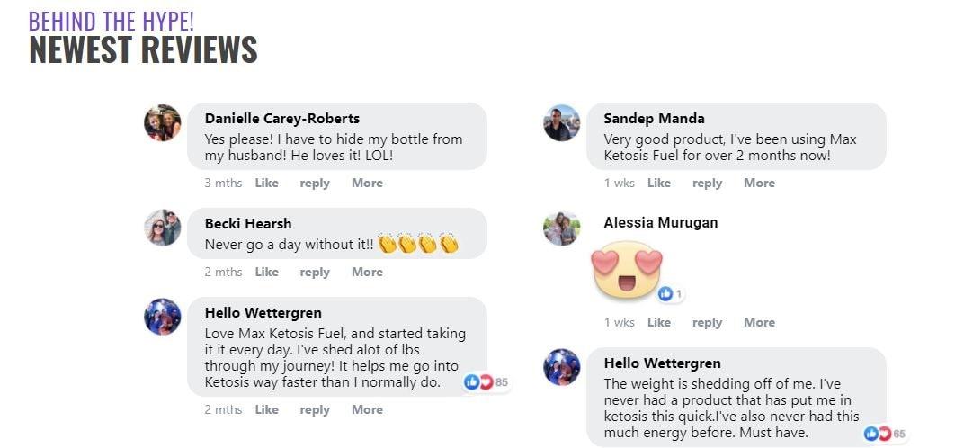 Max Ketosis Fuel Customer Reviews and Complaints